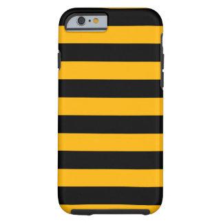 Orange and Black Stripes Horizontal Tough iPhone 6 Case