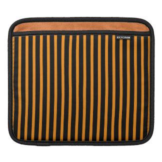 Orange and Black Stripes Sleeve For iPads