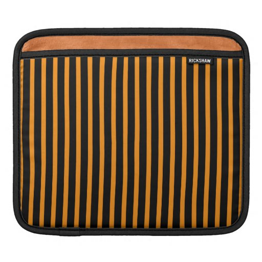 Orange and Black Stripes Sleeve For iPads