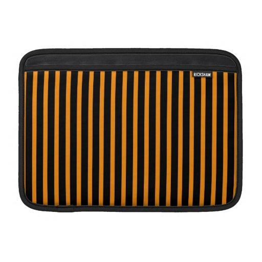 Orange and Black Stripes MacBook Air Sleeves