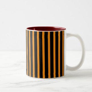 Orange and Black Stripes Mug