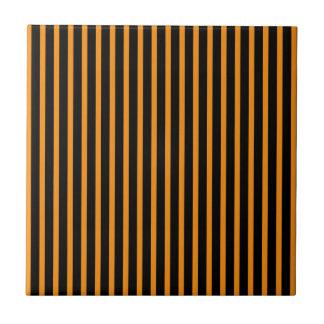 Orange and Black Stripes Tiles