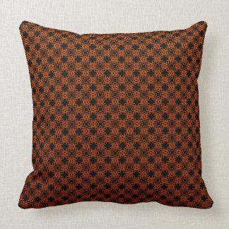 Orange And Black Throw Cushion