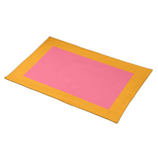 Orange and Bright Pink Placemat