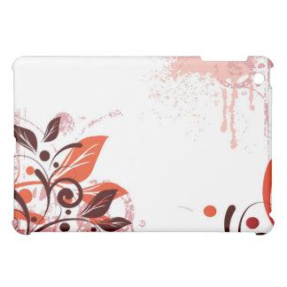 Orange and Brown Floral iPad Case