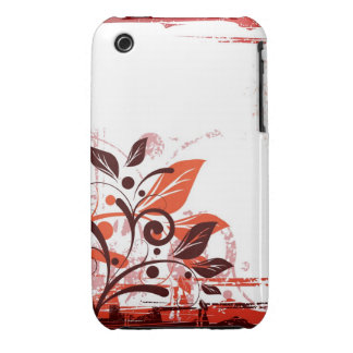 Orange and Brown Floral iPhone 3G/3Gs Case iPhone 3 Case-Mate Case