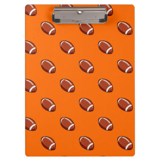 Orange and Brown Football Pattern Clipboard