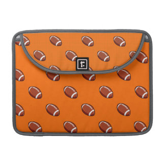 Orange and Brown Football Pattern Sleeves For MacBook Pro