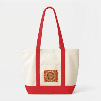 orange and brown impulse tote bag