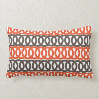 Orange and Brown Loop American MoJo Throw Pillow Throw Cushions