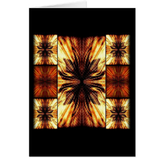 Orange And Brown Retro Pattern Greeting Card