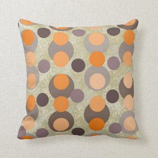 Orange and Brown Retro Pillow