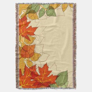 Orange and Gold Autumn Leaves Throw