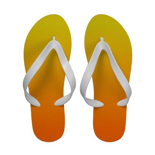 Orange and Gold Ombre Flip Flops