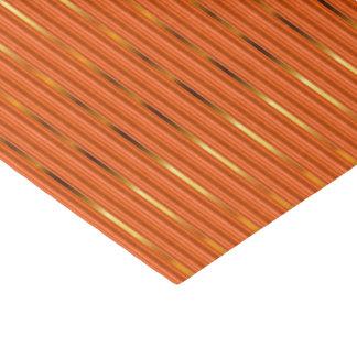 Orange and Gold Stripes Tissue Paper
