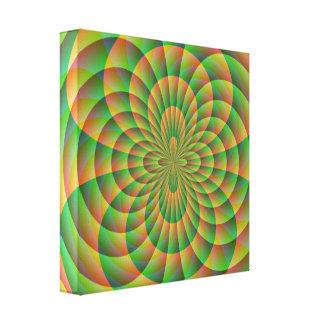 Orange and Green Kaleidoscope Canvas Print