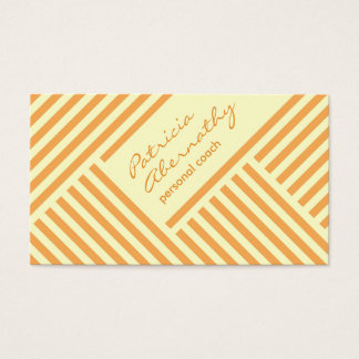 Orange and Light Yellow Chevron Loyalty Business Card