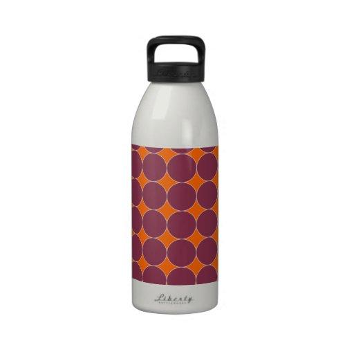 Orange and maroon  dots drinking bottle