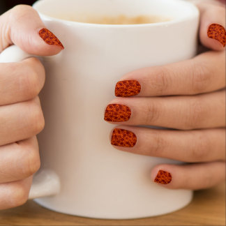 Orange and Maroon Star Team Spirit Sports Colors Nail Stickers