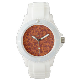 Orange and Maroon Star Team Spirit Sports Colors Wrist Watches