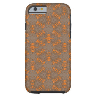 Orange and Mocha Brown iPhone 6 Case Tough iPhone 6 Case
