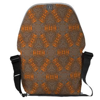 Orange and Mocha Brown Messenger Bag