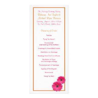 Orange and Pink Gerbera Daisy Wedding Program Invitations