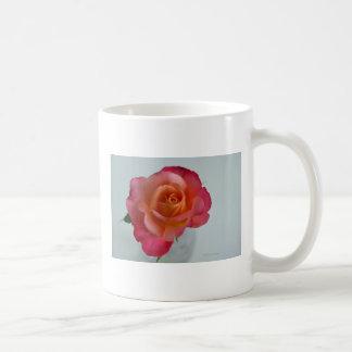 Orange and Pink Hybrid Tea Rose Mug