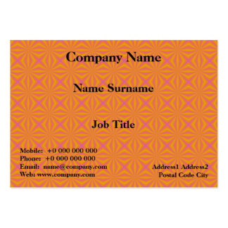 Orange and Pink Quilted Pattern Pack Of Chubby Business Cards