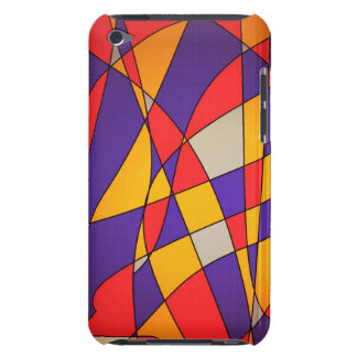 Orange and purple abstract ipod touch case