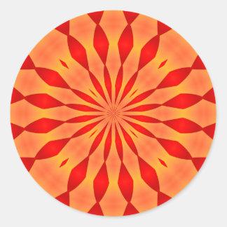 Orange and Red Burst Sticker