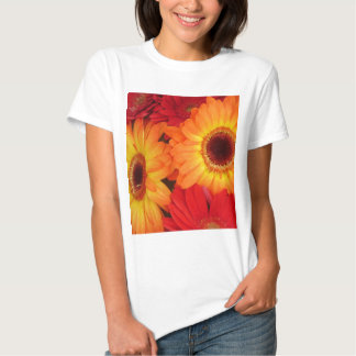 Orange and Red Daisies Tshirt