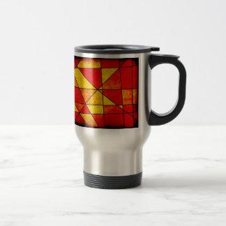 Orange and red mug