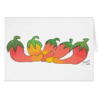 Orange and Red Peppers Greeting Card