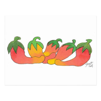Orange and Red Peppers Postcard