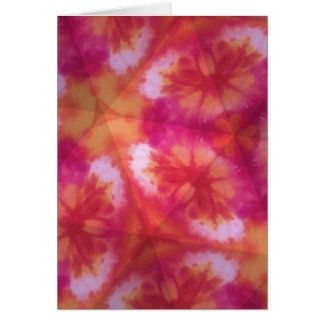 Orange and red tie dye greeting card