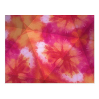 Orange and red tie dye postcard