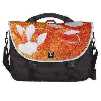 Orange and White by Robert E Meisinger 2014 Bags For Laptop