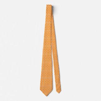 Orange and White Checked Tie