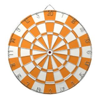 Orange And White Dartboards