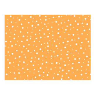 Orange and White Dotty Pattern Postcards