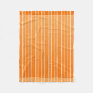Orange And White Fleece Blanket