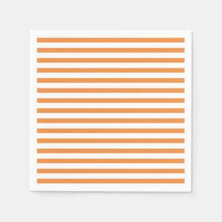 Orange and White Horizontal Stripe Disposable Serviette