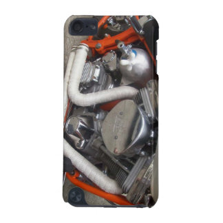 orange and white hot rod v-twin iPod touch 5G case
