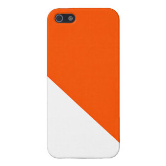 Orange and White iPhone 5 case
