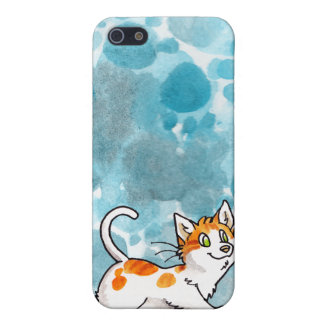 Orange and White Kitty  iPhone 5 Cases