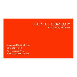 Orange and White Minimal Basic Business Card