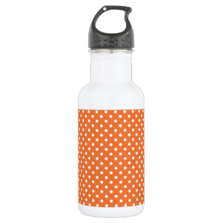 Orange and White Polka Dots 532 Ml Water Bottle