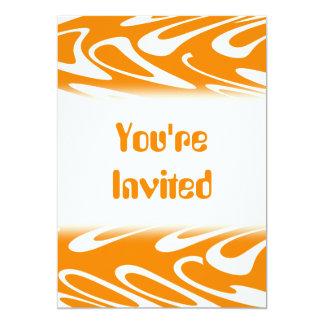 Orange and White Retro Pattern. Invite