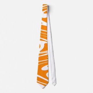 Orange and White Retro Pattern. Tie